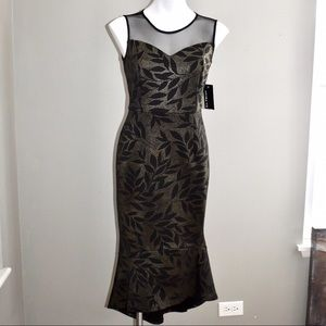Enfocus black and gold fitted dress size 6p